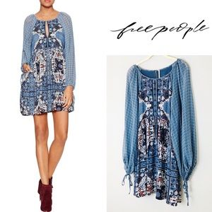 Free People Peasant Style Oksana Mini Dress